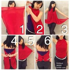 Ways to tie a scarf: Twirl Halter Ruched Top - Knot Just a Scarf