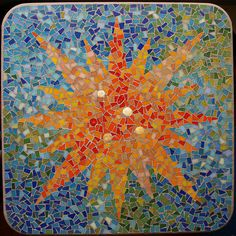 mosaic patterns | mosaic table my latest mosaic project a cafe table top i took my ...