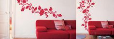 Red Baroque Wall Decal at AllPosters.com