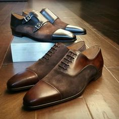 Agustin Brown & Tabaco has really professional yet stylish looks for men. Check these out through and tell us what looks they fit with best! Men's Shoes, Dress Shoes, Classic Man, Brogues, Oxford Shoes, Lace Up, Mens Fashion, Stylish, My Style