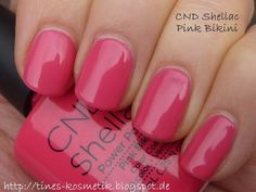 CND Shellac Pink Bikini. When you need a pop of color for these upcoming months!!