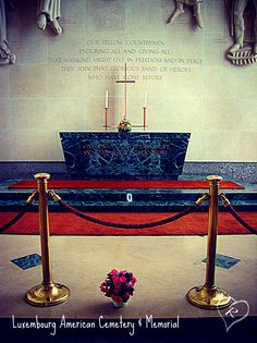 Inside the chapel at the American Cemetery in Luxembourg City, Luxembourg American Cemetery, Luxembourg, City, Places, Cities, Lugares