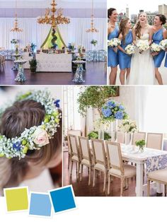 Whimsical spring wedding color combination