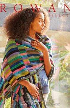 Rowan Selects Kaffe Cotton Colours by Kaffe Fassett - free Rowan Knitting, Rowan Yarn, Hand Knitting, Knitting Patterns, Blanket Patterns, Crochet Patterns, Knitted Afghans, Knitted Blankets, Crochet Scarves