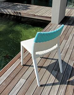 Harbour chair in white and blue