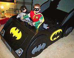 BAT - BLOG : BATMAN TOYS and COLLECTIBLES: Kid's BATMOBILE CAR BED & DRESSER For Cool Batman Bedroom!