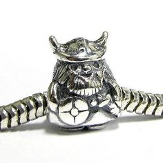 Amazon.com: Queenberry Sterling Silver Viking Warrior Pirate Bead For Pandora Troll Chamilia Biagi European Charm Bracelets: Jewelry