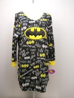 4e99f810f Plus Size Womens Fleece Sleep Shirt Batgirl Long Sleeves V-neck Pullover