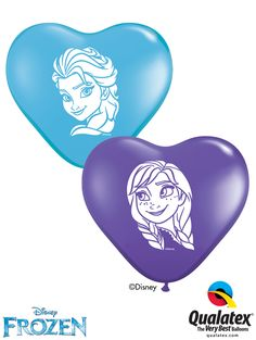 Buy Heart Shaped Frozen Latex Balloons from Tiger Feet Party. Heart Shaped Frozen Latex Balloons pack of Qualatex balloons contains 100 Disney Frozen, Anna Frozen, Bubble Balloons, Frozen Balloons, Elsa Face, Anna Und Elsa, Princess Balloons, Qualatex Balloons, Disney Princess Birthday