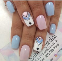 Discover recipes, home ideas, style inspiration and other ideas to try. Stylish Nails, Trendy Nails, Milky Nails, Nagellack Design, Glow Nails, Tribal Nails, Girls Nails, Little Girl Nails, Minimalist Nails