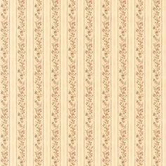 Brewster Emily Beige Floral Stripe Wallpaper