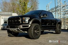 Ford Raptor with Black Rhino Warlord Wheels exclusively from Butler Tires and Wheels in Atlanta, GA - Image Number 10210 Ford Pickup Trucks, New Trucks, Cool Trucks, Ford Raptor Lifted, Raptor Truck, Ford Rapter, Best Car Insurance, Ford F Series, Trucks And Girls
