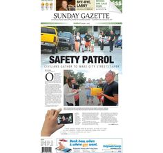The front page of the Taunton Daily Gazette for Sunday, Aug. 2, 2015.