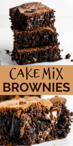 Chocolate Box Cake, Chocolate Cake Mix Recipes, Cake Mix Desserts, Chocolate Fudge Brownies, Cake Mix Cookie Recipes, Box Cake Recipes, Dessert Recipes, Easy Desserts, All You Need Is