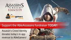 Today's the day Assassins! TODAY ONLY take part in Ubisoft Blue Byte's fundraiser for The AbleGamers Foundation to raise real coins for gamers with disabilities! To donate, make any in-app purchase in Assassin's Creed Identity and 100% of your purchase goes towards providing modified accessories for gamers with disabilities! #assassinscreed #assassins #ubisoft #assassinscreedmovie #aguilardenerha #assassinscreed #assassins #creed #assassin #ac #assassinscreeed2 #assassinscreedbrotherhood…