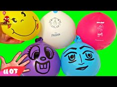 Baby Finger Family for Learning Colors with water Balloons & Real Babies...