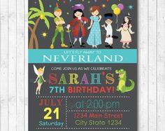 Peter Pan Birthday Invitation on Etsy - winner!
