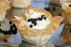 Yummy Easy Cannoli Cups