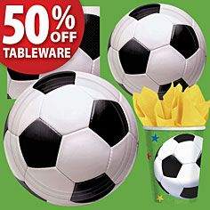 Soccer Party Supplies- Boys Birthday- Birthday Parties - Party America