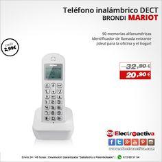 ¡Ideal para la oficina y el hogar!  Teléfono Inalámbrico Brondi MARIOT https://www.electroactiva.com/brondi-telefono-dect-mariot-blanco.html #Elmejorprecio #Teléfono #Chollo #Electronica #PymesUnidas