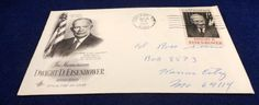 1969 First Day cover Dwight David Eisenhower In by craftylady1950