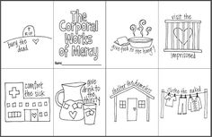 The Corporal Works of Mercy Mini Coloring Book- Free printable for Catholic Kids