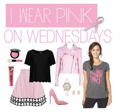 """""""I Wear Pink for Breast Cancer Awareness"""" by swagyniky ❤ liked on Polyvore featuring Olympia Le-Tan, Topshop, Under Armour, Christian Louboutin, Ter Et Bantine, GUESS, Bling Jewelry, Bobbi Brown Cosmetics, Kenneth Jay Lane and Origins"""