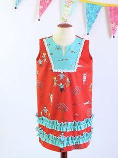 Girls boutique tunic shift dress in designer by TheMulberriBush