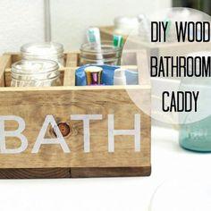{DIY Wood Bathroom Caddy!}