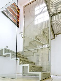 steel mesh stairs.  David Mikhail