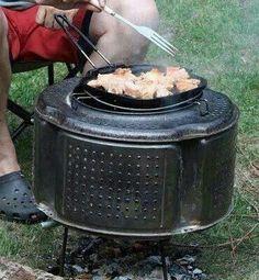 Barbecue tambour de machine à laver... ...