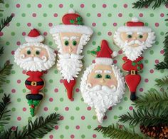 Awesome Santa Cookies @Elizabeth Lockhart Farrell - cant wait to see what you create over the Holiday's!