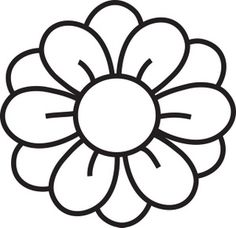 """Simple Flower By Hakanl Line Drawing Of A Cartoonkid Clipart . Yellow Flower clipart - pin to your gallery. Explore what was found for the yellow flower clipartFlowers Clipart Black And White Free Clipart ImagesKéptalálat a következőre: """"clip a Flower Clipart Images, Free Clipart Images, Art Clipart, Flower Outline, Flower Shape, Flower Art, Pumpkin Flower, Pumpkin Wreath, Pumpkin Cookies"""
