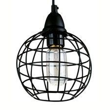 Pendant Light Metal Industrial Cage Lamp D in Black or Copper Indoor Lighting, Lamp, Cage Pendant Lamp, Caged Lamp, Vintage Industrial Lighting, Pendant Lamp, Lights, Pendant Light, Light