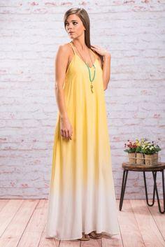"""Longing For You Maxi Dress, Yellow"""