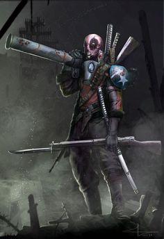 #Deadpool #Fan #Art. (Deadpool WW2) By: Saadirfan. [THANK U 4 PINNING!!]