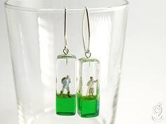 Gipfelstürmer  Fesche Bergsteiger-Figuren-Ohrringe mit zwei