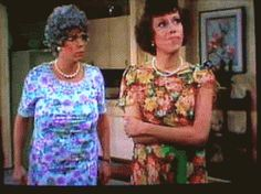Mama and Eunice...Vicki Lawrence and Carol Burnett. Mama's Family...love this show, so funny!