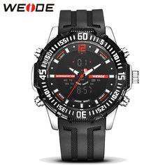 US $51.65 - 2017 WEIDE Luxury Brand Men's Quartz Digital Watches Men Fashion Casual Sports Clock Military Wristwatches Relogio Masculino
