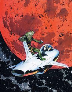 Frank Frazetta - art for Buck Rogers - Nov 1954 Famous Funnies Frank Frazetta, Arte Sci Fi, Sci Fi Art, Science Fiction Art, Pulp Fiction, King Kong, Bd Comics, Cultural, Pulp Art