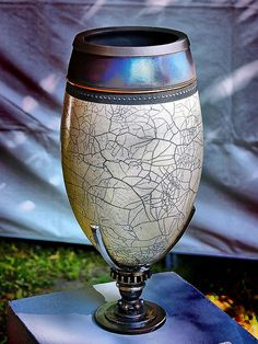 #Raku #Pottery, artist unknown ~ Photo by...Dan Ripplinger©