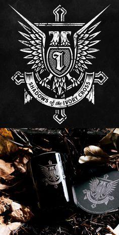 Shadows of the ivory cross Typography Logo, Graphic Design Typography, Graphic Design Art, Graphic Design Inspiration, Branding Design, Logo Design, Lettering, Truck Design, Badge Design