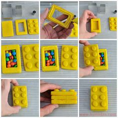 Haniela's: Lego Bricks Pinata Cookies and Lego Blog Hop