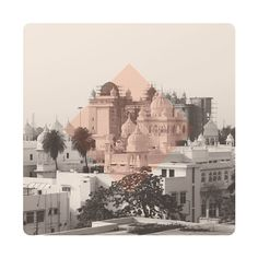 $145 Limited edition Giclee art print.  61 x 61cm (unframed) CRANE MUSEO PORTFOLIO RAG (Matt) 300gsm   IMAGE: Rooftop view of surrounding mosque's from the Central Hall of Bara Imambara Lucknow, Uttar Pradesh, India.
