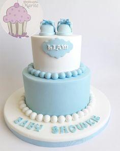 Torta de baby shower niño