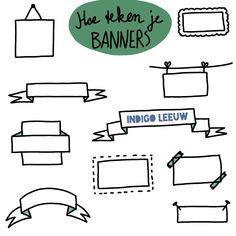 Banners en kaders om een titel tekenen helpt om dagelijks te oefenen met tekenen in je werk. Voor nog drie tips om stiekem te oefenen met zakelijk tekenen lees het volledige blog Diagram, Banners, Indigo, Tips, Blog, Indigo Dye, Banner, Blogging, Posters