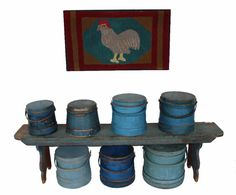 A collection of blue Firkins