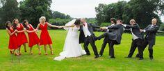 Wedding. Bride. Groom. Bridesmaids. Best Man. Groomsmen. Fun. Kiss. Love. Lynn Thompson Photography.