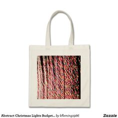Abstract Christmas Lights Budget Tote Budget Tote Bag