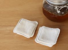 non disposable facial cotton pads by infusion fibers, reduce, reuse, recycle, time to get rid of the cotton balls! :)